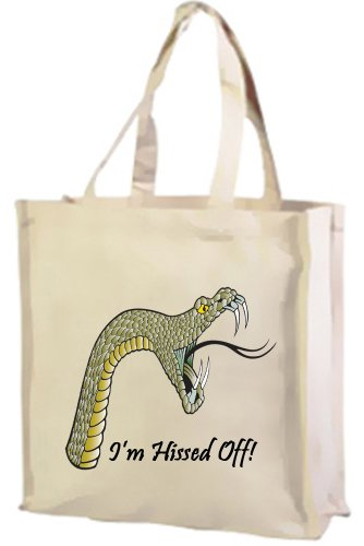 I m Sibilata off Snake cotone shopping bag, Darkside Collection crema