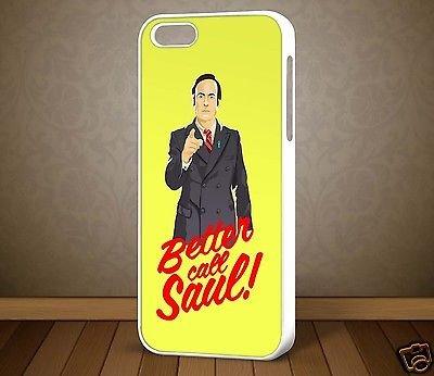 Better Call Saul Breaking Bad design 4per iPhone Samsung Galaxy S7Edge casi di telefono (Bianco)