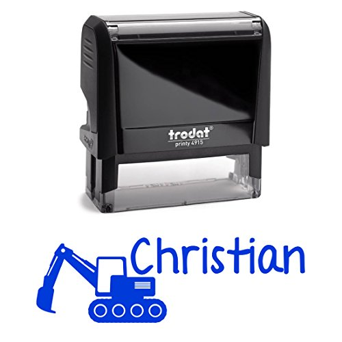 Personalized Excavator Customized Childrens Signature