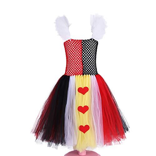 Tutu Queen Of Hearts Toddler Costume (Queen of Hearts Costume, Red Queen Tutu Dress, for Baby/Toddler/Teen Girls,)