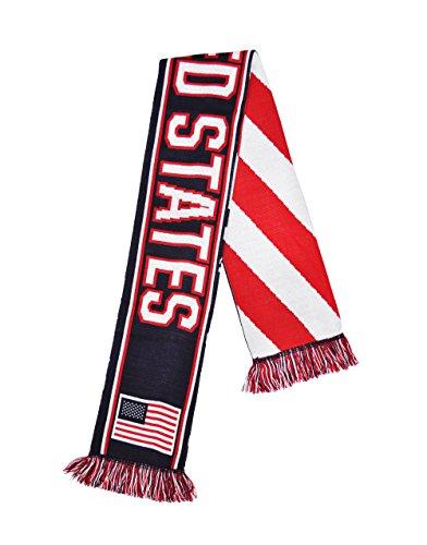 USA American Flag Pattern Scarf (Jacquard United Scarf)