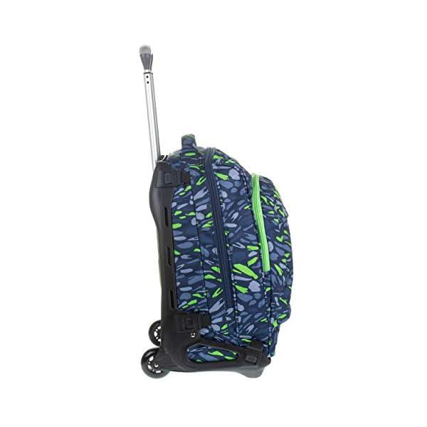 Trolley Tech Invicta Art, 34 Lt, Blu, 2 in 1 Zaino sganciabile, Scuola & Viaggio 3 spesavip