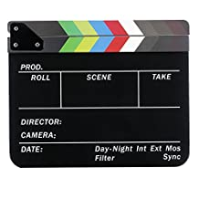Neewer® Acrylic Plastic 10x12in/25x30cm Dry Erase Director's Film Movie Clapboard Cut Action Scene Clapper Board Slate with Colorful Sticks