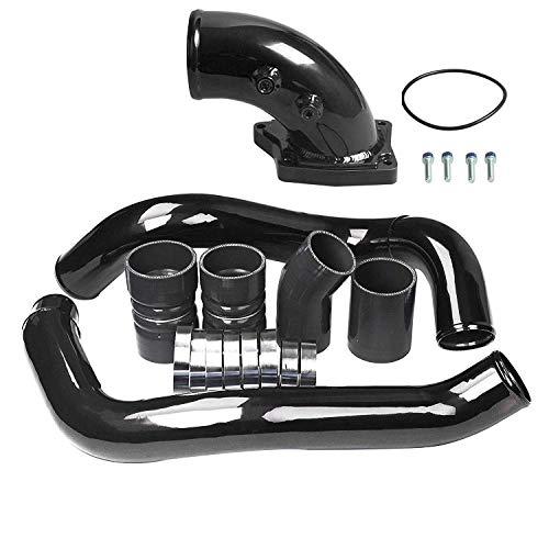 Black Intercooler Pipe Kit & Intake Elbow 2003-2007 Ford 6.0L Powerstroke Diesel 6.0 F250 F350 F450 F550