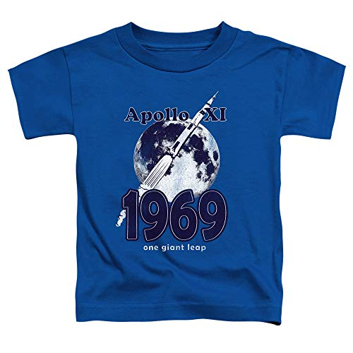 NASA Apollo 11 Toddler T-Shirt 1969 One Giant Leap Royal Tee, 3T