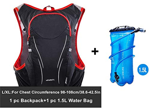 Amazon.com : XUSHSHBA 5L Outdoor Sport Trail Running Backpack Marathon Trail Running Hydration Vest Pack for 1.5L Water Bag Cycling Hiking Bag Gr LXL BP ...