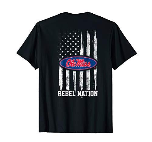 Ole Miss Rebels Nation Flag T-Shirt - -
