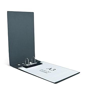 Clam archivador Horizontal para hojas y sobres A3 Nel tamaño máximo cm 30, 5 x 42. Paso 8 cm, mecanismo a palanca.: Amazon.es: Oficina y papelería