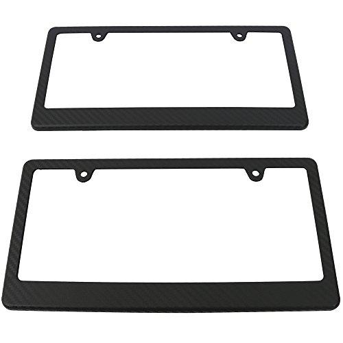 license plate frame black plastic - 8