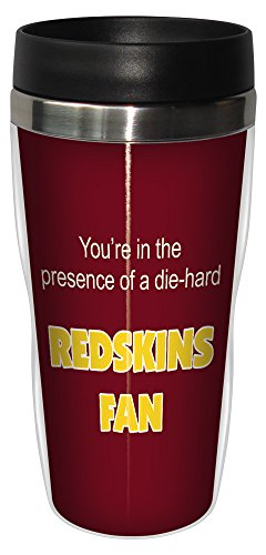 Tree-Free Greetings sg24139 Redskins Football Fan Sip 'N Go Stainless Steel Lined Travel Tumbler, 16-Ounce