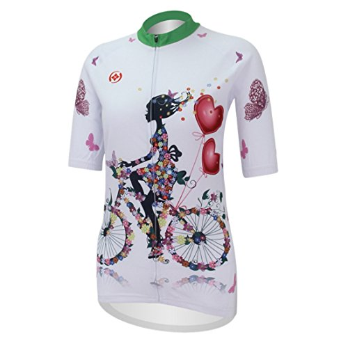 Women Cycling Jersey Sweat Releasing Fast Drying Clothing Shirt Tops