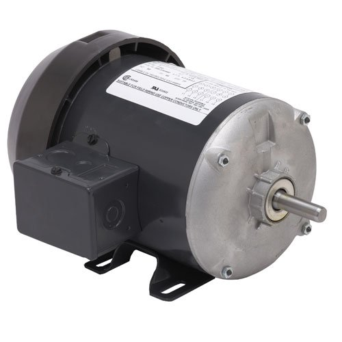US Motors (Nidec) T12C2L - General Purpose Motor - 1 ph, 1/2 hp, 1500 rpm, 110/220 V, 56 Frame, TEFC Enclosure, 50 Hz, RIGID Mount ()