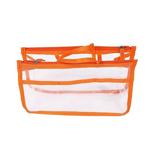 Borsa - SODIAL(R) Sacchetto trasparente in Borsa Inserire Comestic gadget borsa (arancia)