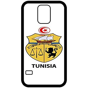 Tunisia - Coat Of Arms Flag Emblem Black Samsung Galaxy S5 Cell Phone Case - Cover