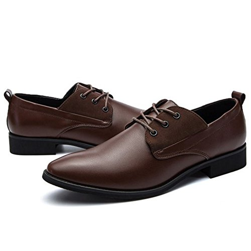 Uniform Up Men Lace Shoes Footwear Brown TAOFFEN Comfort fqXt7ndxww