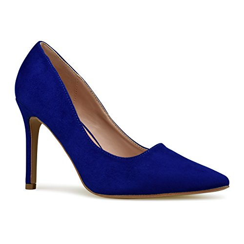 Premier Standard Women's Pointy Toe High Heel Pump Shoes, TPS Heels-10Liag Royal Blue Size 7