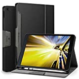 Antbox iPad 9.7 2018/2017 Case with Built-in Apple Pencil Holder Soft TPU Back Auto Sleep/Wake Function PU Leather Smart Cover for iPad 9.7 iPad 5th/6th Generation