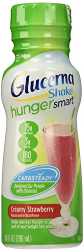 Glucerna Hungersmart Shake, Strawberry, 6 Count
