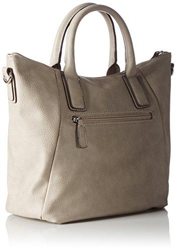 GERRY WEBER Be Different Handbag - Bolso de mano de piel sintética mujer Gris - gris claro (grey 801)