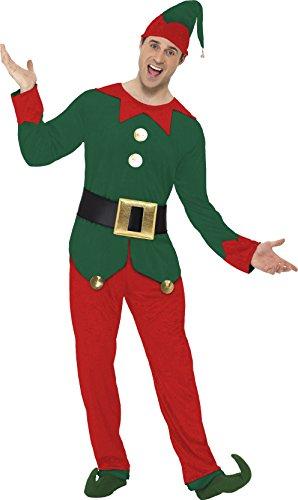 Smiffy's Elf Costume (Elf Costume - Medium - Chest Size 38-40)