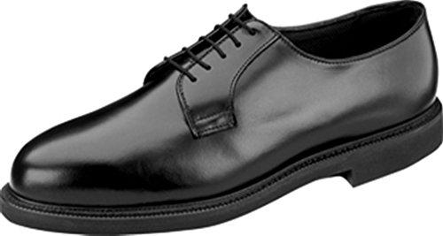 Thorogood Men Gloss Black Leather Oxford Uniform Service Work Shoe - 8 ()