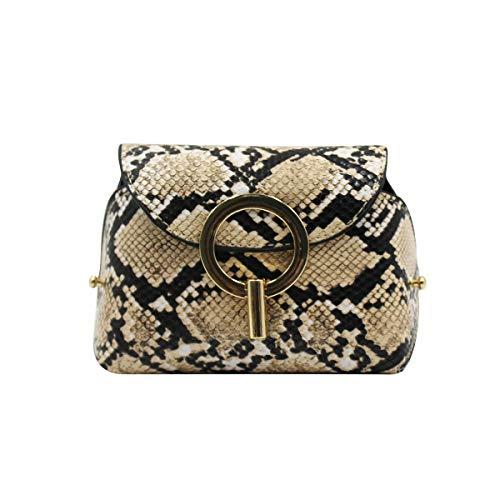 KINGSEVEN Women Mini Snakeskin Pattern Waist Bag Envelope Pouch Purse Handbag Chest Bag Adjustable Strap Shoulder Bag