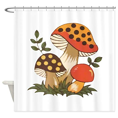 Dongingp Merry Mushroom Decorative Fabric Shower Curtain (69