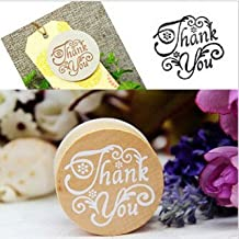 Vintage Floral Flower Pattern Round Wooden Rubber Stamp Scrapbook Love you Thank you Letter Stamp