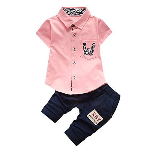 WOCACHI Toddler Baby Boys Clothes, Infant Baby Boys Girls Letter Pocket T-Shirt Tops Pants 2Pcs Set Outfits Clothes 2pcs 3pcs Footies Outfit Onesies 0-24 Months 2-8 Years Playsuits Tutu Princess -