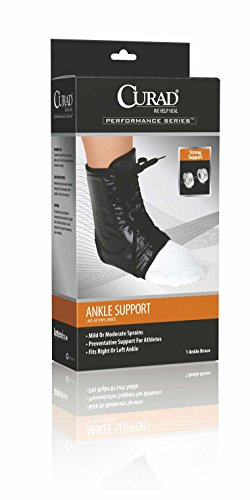 Curad Lace-Up Vinyl Ankle Support, Medium