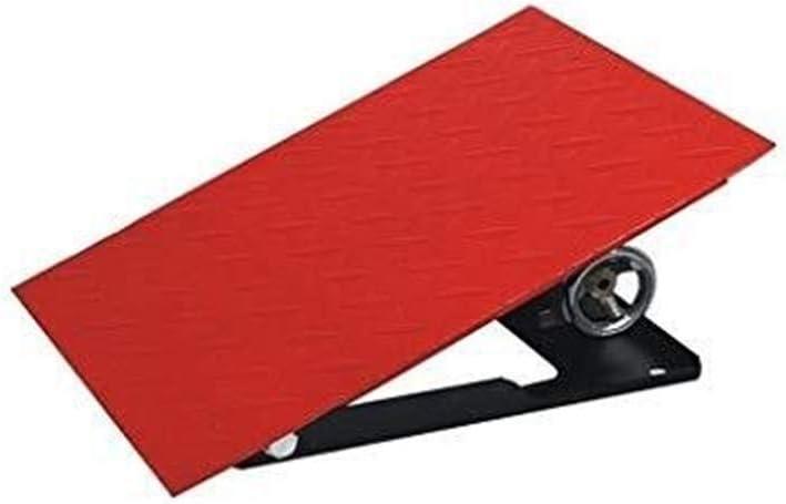 Ajustable triangular cojín, metal Rampas para sillas ruedas,Almohadilla antideslizante rampa de la silla de ruedas con almohadilla de rampa 12-20 cm (tamaño: 40 * 30 * 12~20 cm) (Color : Red)