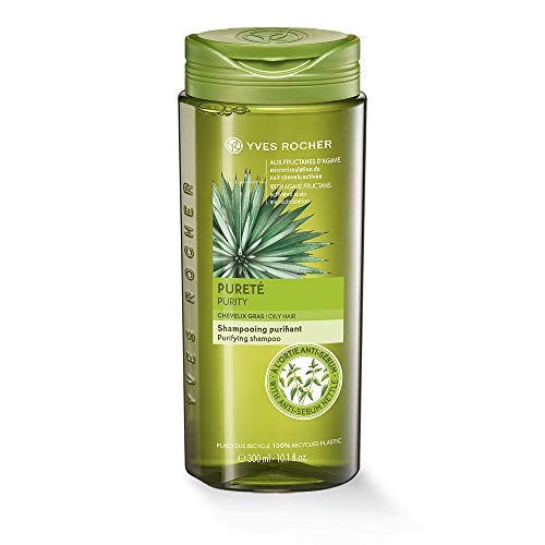 Yves Rocher PFLANZENPFLEGE HAARE Frische-Shampoo, pflegendes Haar-Shampoo, reguliert die Kopfhaut, 1 x Flacon 300 ml