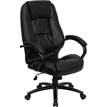 amazon com multi function leather high back office chair with