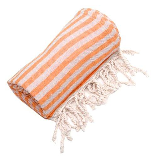 Woven Bamboo Throw (Linum Home Textiles Turkish Cotton Fun in the Sun Pestemal, Peshtemal, Fota Beach Bath Towel)