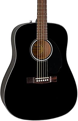 Fender CD -60S Dreadnought Acoustic Guitar - Black Finish by Fender