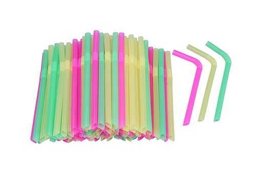 (Extra Wide Flexible Bendy Smoothie Straws, 1/2
