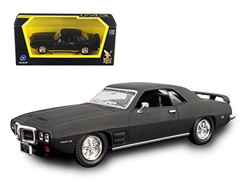 Road Signature 94238 1969 Pontiac Firebird Trans Am Matt Black 1/43 Diecast Model Car 43 Black Diecast Car