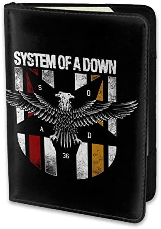 System Of A Down システム・オブ・ア・ダウン パスポートケース メンズ 男女兼用 パスポートカバー パスポート用カバー パスポートバッグ 小型 携帯便利 シンプル ポーチ 5.5インチ高級PUレザー 家族 国内海外旅行用品