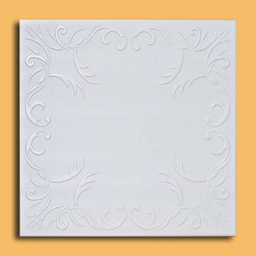 50pc of Roven White (20''x20'' Foam) Ceiling Tiles - Covers about 135sqft by Antique Ceilings