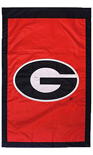 University of Georgia (G) - 28'' x 44'' Double Sided Appliqued NCAA Banner