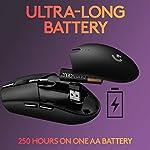 Logitech G305 Lightspeed Wireless Gaming Mouse, Hero 12K Sensor, 12,000 DPI, Lightweight, 6 Programmable Buttons, 250h…