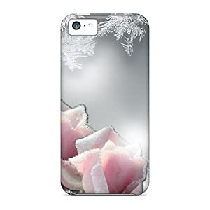 Brand New 5c Defender Case For Iphone (frost On The Roses)