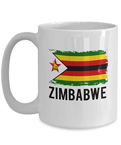 Zimbabwe Flag Mug Funny Gifts - Zimbabweans Pride Flag Hometown Country Pride, Travel, Souvenir, Vintage Zimbabwe Flag Coffee Cup 11 or 15 Oz