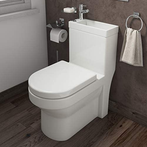 Affine 2 In 1 Toilet Basin Combo Combined Toilet And Sink Space Saving Cloakroom Unit Amazon Co Uk Kitchen Home