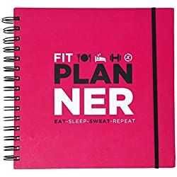 Fitime Fit Planner: Fitness Journal and Planner for Workouts, Weight Loss,Exercise & Meal prep.(Pink)