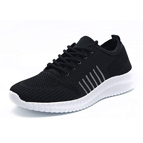 Idea Frames Mens Knit Sport Walking Shoes Lightweight Comfy Sneaker for Running and Jogging