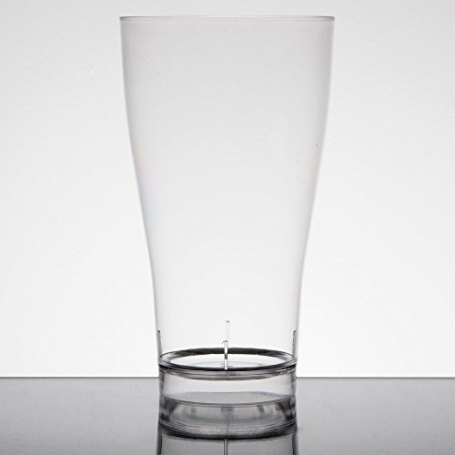 Fineline Quenchers 4514 14 oz. Clear Plastic Beer / Pilsner Glass - - Plastic Crystal Pilsners