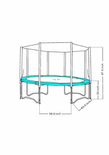 Super Jumper Enclosure for Trampoline, Black, 14-Feet