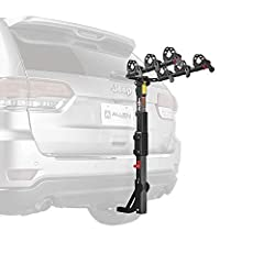 """Allen Sports' Premier Hitch Mounted 3-bike carrier mounts quickly and easily to your 2"""" or 1 1/4"""" trailer hitch. The arms """"snap"""" into place right out of the box. Allen's new dual-compound cradle system securely holds your bicycles in place an..."""