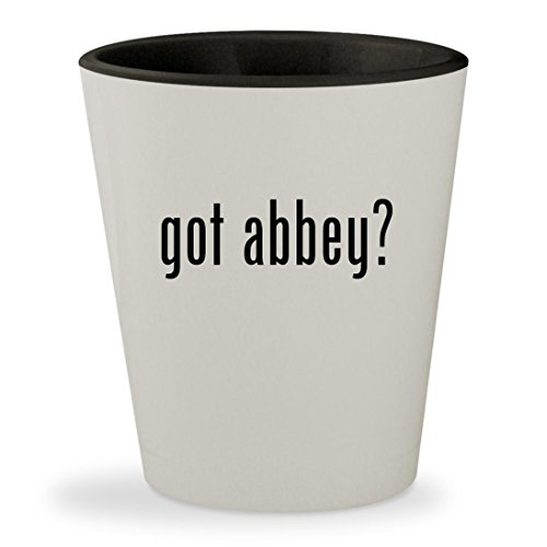 got abbey? - White Outer & Black Inner Ceramic 1.5oz Shot Glass